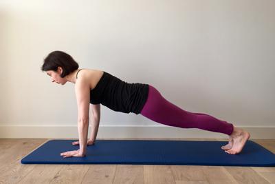Exercice planche Pilates